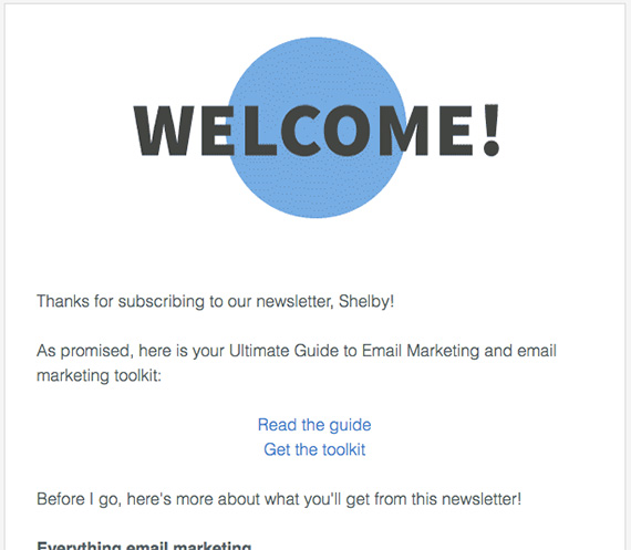 10 examples of highly effective welcome emails.